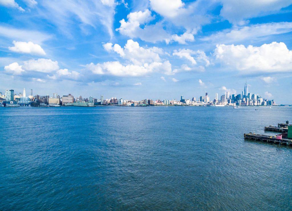 L'Hudson River à Manhattan aux États-Unis